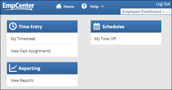 Employee Dashboard for non-clocking policy profiles