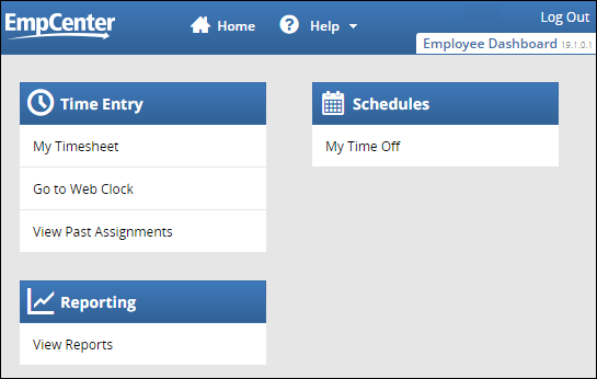 Employee Dashboard for clocking policy profiles