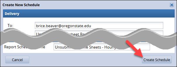 create schedule button