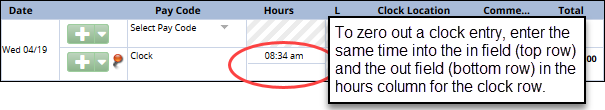 clock row hours column highlighted
