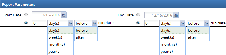 date range date options