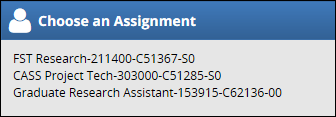 choose the assignment you are requesting time off for if you have more than one job