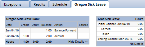 accrual date and leave taken dates display when show details link is clicked
