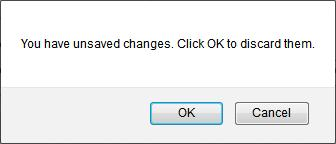 unsaved changes warning