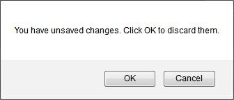 warning for unsaved changes