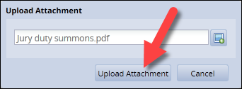 upload attachment with file uploaded and upload attachment button highlighted