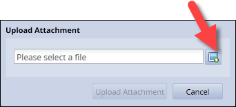 upload attachment window with file browser link highlighted